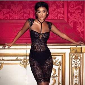 House of CB hermosa 2 piece lace dress
